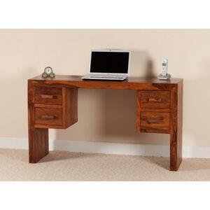 Písací stôl Kali 130x76x70 indický masív palisander Super natural