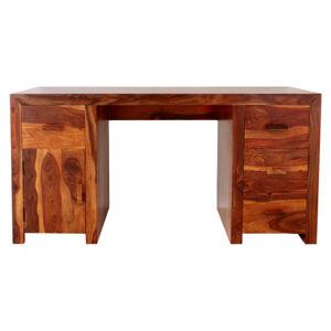 Písací stôl Kali 160x80x76 indický masív palisander Natural